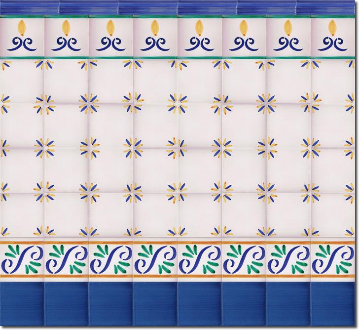 Zócalo de azulejos ref. SV2526-3
