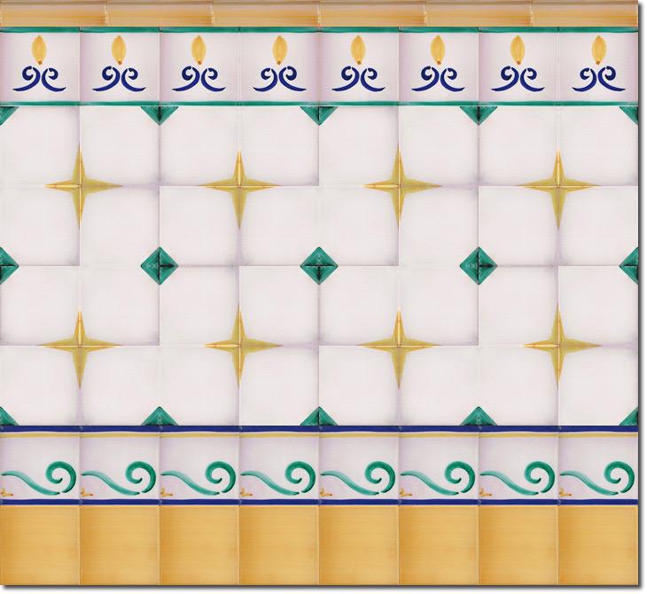 Zócalo de azulejos ref. SV2554-4