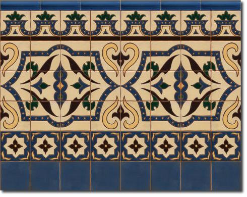 Zócalo azulejos estilo rústico CS8011-3