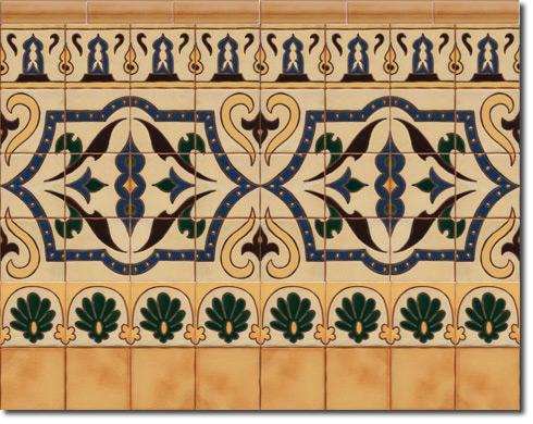 Zócalo azulejos estilo rústico CS8011-4