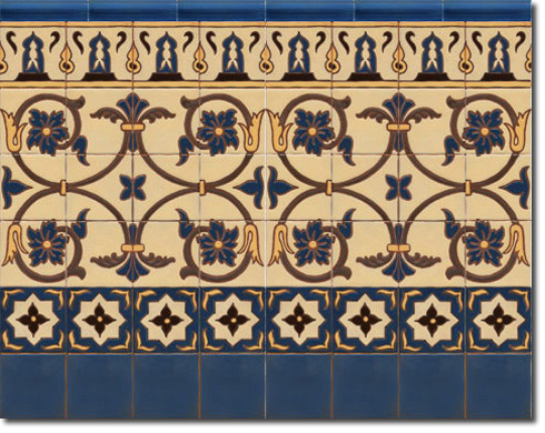 Zócalo azulejos estilo rústico CS8031-3