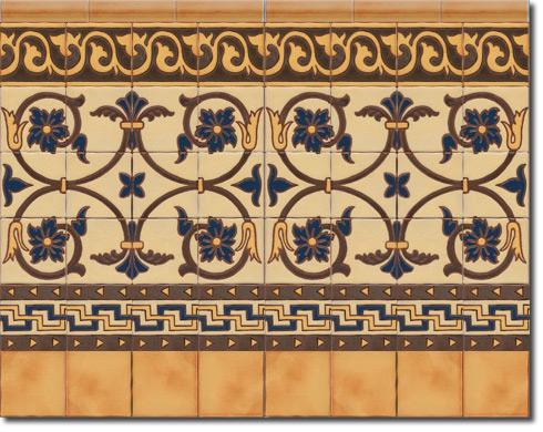 Zócalo azulejos estilo rústico CS8031-4