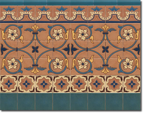 Zócalo azulejos estilo rústico CS8037-2