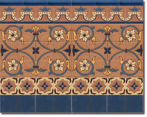Zócalo azulejos estilo rústico CS8037-3
