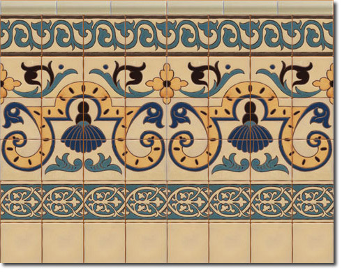 Zócalo azulejos estilo rústico CS8051-1