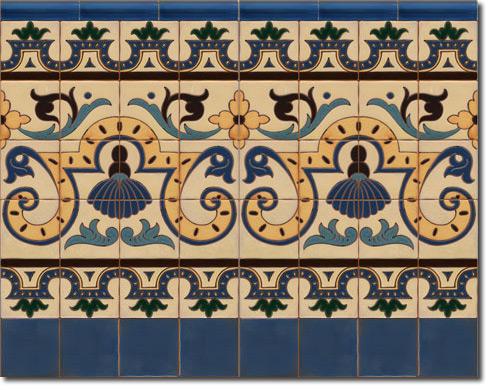 Zócalo azulejos estilo rústico CS8051-3