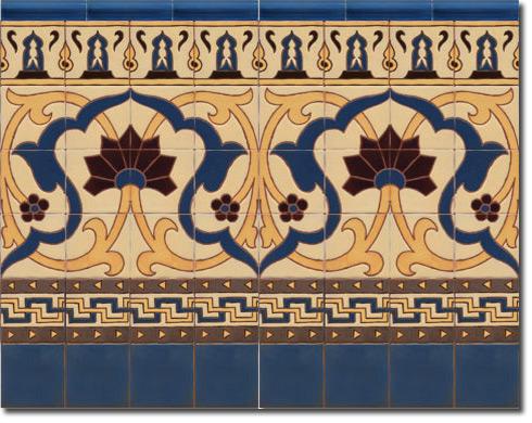 Zócalo azulejos estilo rústico CS8071-3