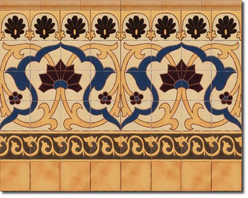 Zócalo azulejos estilo rústico CS8071-4