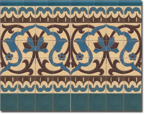 Zócalo azulejos estilo rústico CS8072-2