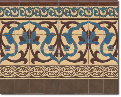 Zócalo azulejos estilo rústico CS8072-6