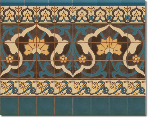 Zócalo azulejos estilo rústico CS8076-2