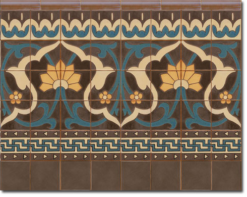 Zócalo azulejos estilo rústico CS8076-6