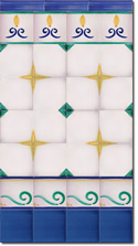 Zócalo de azulejos ref. SV2554-3