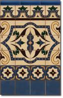 Zócalo azulejos estilo rústico 8011-3