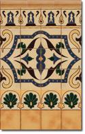 Zócalo azulejos estilo rústico 8011-4