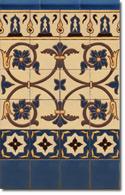 Zócalo azulejos estilo rústico 8031-3