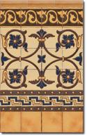 Zócalo azulejos estilo rústico 8031-4