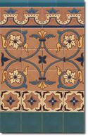 Zócalo azulejos estilo rústico 8037-2