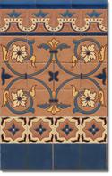 Zócalo azulejos estilo rústico 8037-3