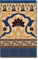 Zócalo azulejos estilo rústico 8071-3