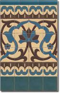 Zócalo azulejos estilo rústico 8072-2
