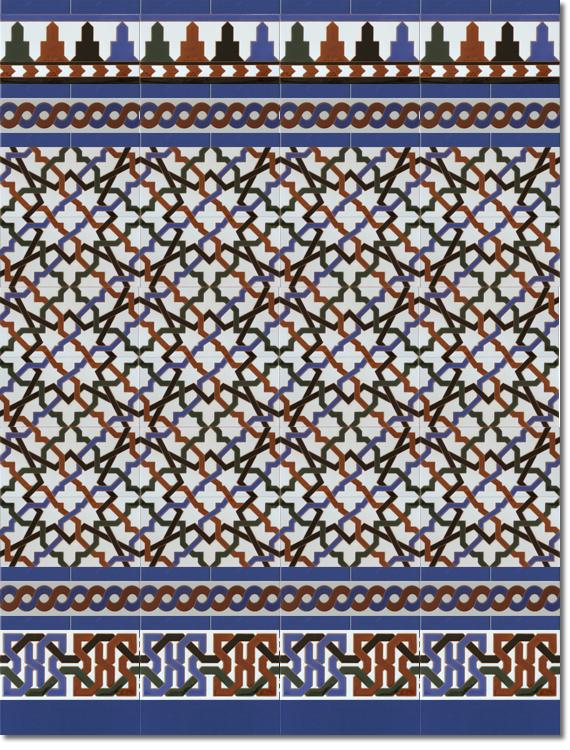 Zócalo estilo árabe modelo 520 azul