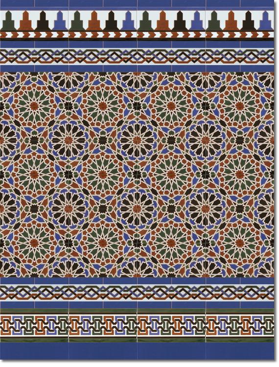 Zócalo estilo árabe modelo 560 azul