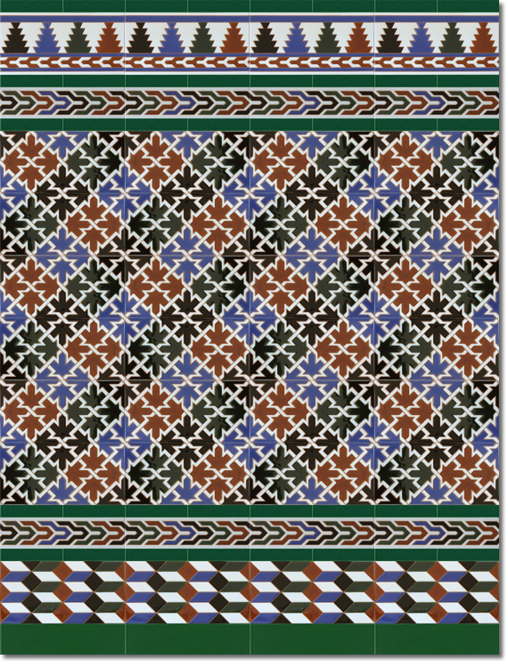Zócalo estilo árabe modelo 580 verde