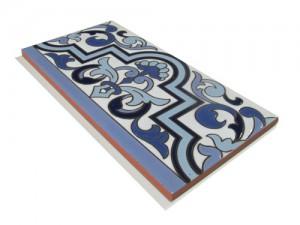 R133 Azulejo Remate 14x28 cm.