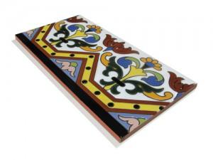 R184 Azulejo Remate 14x28 cm.
