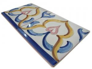 SV2071 Azulejo pincelado 15x15 cm.