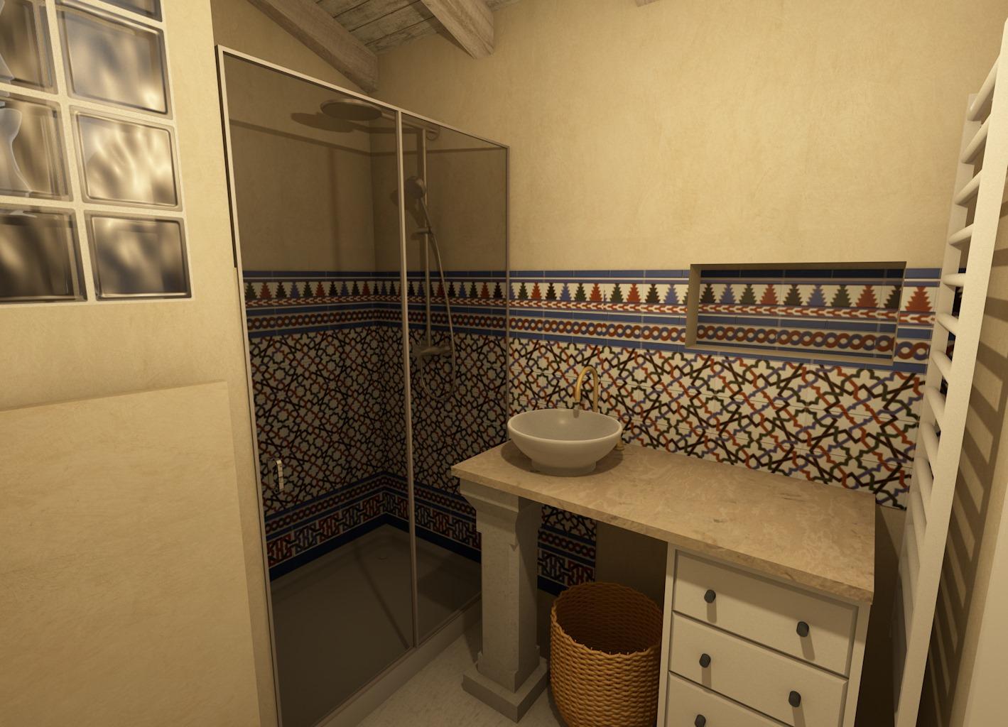 Zócalo árabe en baño (Venecia)