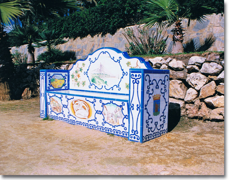 Banco decorado (Marbella)